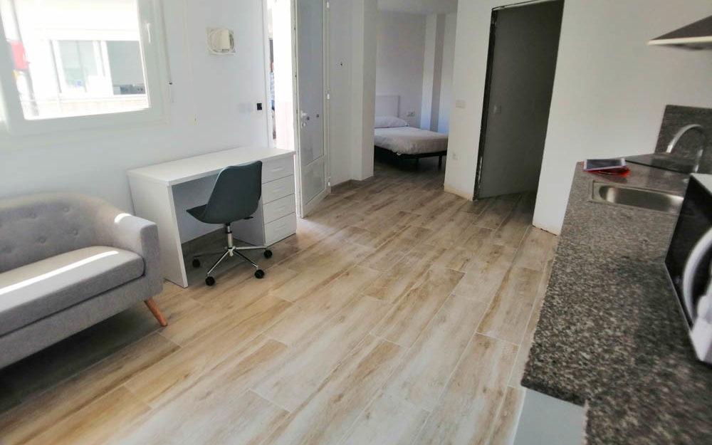 LouéStudio-appartements individuels pour étudiants dans une nouvelle résidence universitaire – Alfara del Patriarca – Réf. 001002